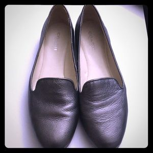 Pewter Coach Leather Loafers
